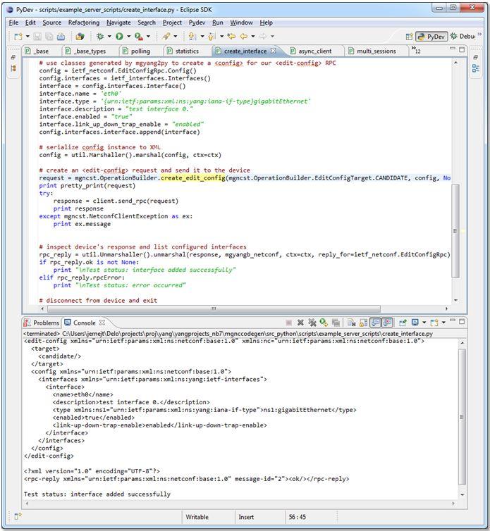 MG-SOFT NETCONF/YANG Python Scripting System__Network Asset