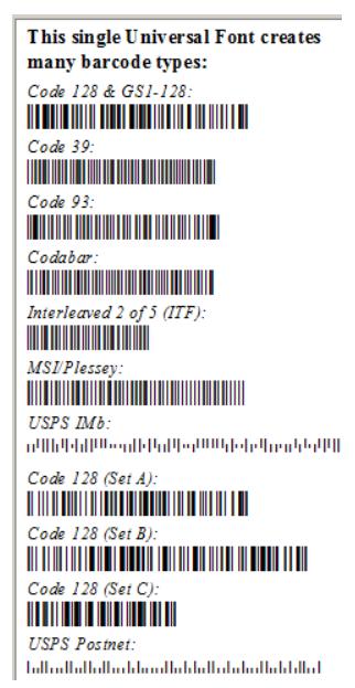 IDAutomation Universal Barcode Font Advantage Package_Bar