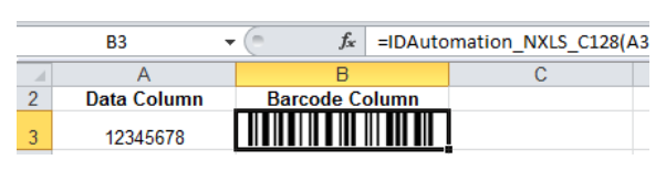 IDAutomation Excel Native Generator_Bar Code_Translation BarCode